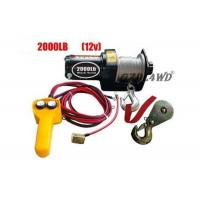 12V 2000LB Heavy Duty Electric Winch Truck With ATV Rope Wireless Remote Manufactures