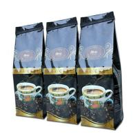 China Glossy Black Tin Tie Side Gusset Coffee Packaging Bag Gravure Printing on sale