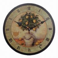 China Art Clock, Eco-friendly, Clock Movement with CE and RoHS Marks on sale