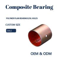 Steel Bronze Red Polymer Plain Bearings Split Bushes Tin / Copper Made To Order Manufactures