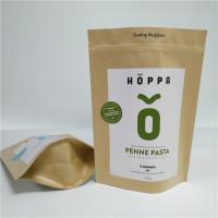 Kraft Paper Material Stand Up Pouch Peanut Protein Powder Packaging Gravure Printing Manufactures
