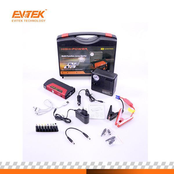 Quality Evitek 50800 Mah Car Jump Starter Pack With Optianl Air Compressor for sale