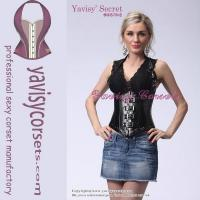 China fashion sling women pvc corset leather bustier on sale