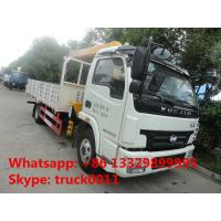 China high quality and competitive price 4*2 3.5ton telescopic truck mounted crane for sale,  yuejin 3.5tons truck with crane on sale