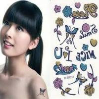 Personalized Water transfer Temporary body art tattoo designs sticker for girls Manufactures