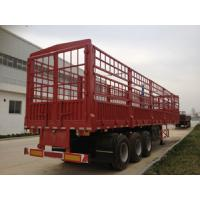 Container Cargo Lorry Trailer , 3 Axle Semi Trailer Trucks with Manual Transmission Manufactures