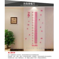 3d acrylic piona sticker kids nursery Height measurement wall Sticker growth chart home sticker Removable kids height Manufactures