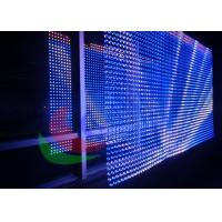 Indoor Outdoor Video LED Curtain Screen  Flexible Light Weight Waterproof High Brightness Manufactures