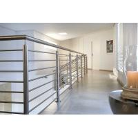 Prefabricated Staircase Stainless Steel Rod Railing Indoor Side Mounted Manufactures