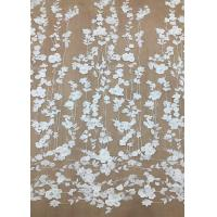 Ivroy Color French 3D Floral Lace Fabric , High End Wedding Lace Fabric By The Yard Manufactures