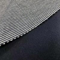China 68%polyester32%cotton quilted face polyester double faced interlock stripe fabric for sportswear on sale