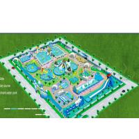 Customize Giant Portable Water Park, Design Park Plan,Supply Specific Parameters inflatable water park Manufactures