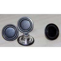 China Gun Metal Custom Clothing Buttons Zinc Alloy , Decorative / Reusable on sale