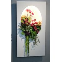 Colorful lighted Artificial Succulent Wall Panel Plastic Vertical Garden for Apartment Manufactures