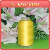 Yellow Dyed Embroidery Bobbin Thread / Brother Machine Embroidery Thread Manufactures