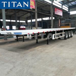 China TITAN tri axle 70ton 20ft 40 foot container flatbed semi trailer on sale