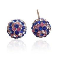 Quality Fashion Disco Balls Clarity Crystal Shamballa Stud Earrings for sale