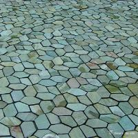 Natural stone Beige Yellow Meshed Back Slate Flagstone Pavers Abrasion Resistance Anti - Skid Manufactures