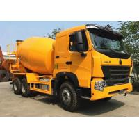 SINOTRUK HOWO A7 6x4 9m3 Concrete Construction Equipment With 59% Stuffing Volume Manufactures