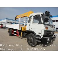 2019 best price new Dongfeng 4*2 190hp 6.3ton truck mounted crane for sale, hot sale dongfeng 6.3tons truck with crane Manufactures