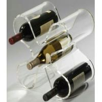 Acrylic Display Stands , Wine Display Racks With Handle Easy Remove Manufactures