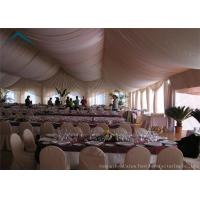 China Durable Long Life Span White Party Tent 20mx30m Wooden Flooring on sale