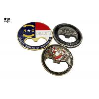 China Fashionable Coin / Round Beer Bottle Openers Soft Enamel Antique Tin Plating on sale