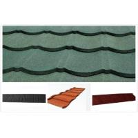 Arc / Roman Colorful Stone Coated Metal Roofing Tile , decorative Exterior roof Tiles