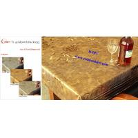 China Arabic PVC Table Cloth--RNPT Ti-Gold Table cloth with polyester backing --fancy table cloth for Africa countries on sale