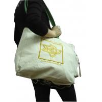 Custom Printed Natural Canvas Reusable Carrier Bags With Cotton Handle emboidery logo Manufactures