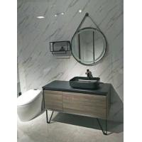 Black Table Freestanding Bathroom Vanity Basin Over The Counter With 2 Legs Manufactures