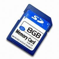 China SD Card with Mechanical Write Protection Switch and 128MB to 2GB Memory Capacities on sale
