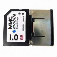 MMC/Mobile Card, 1.8 and 3.3V Dual-voltage and 7Mbps Reading Speed for Mobile Phones Manufactures