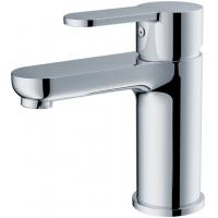 Modern Brass Basin Mixer Faucet with Deck Mounted , Chrome Finish Manufactures