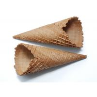 CE Ice Cream Related Production Chocolate Dipped Waffle Cones Conical Shpe Manufactures