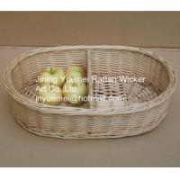 2016 wicker living room table storage basket 2 partitions Manufactures