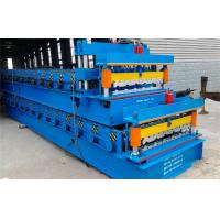 Buy cheap Color Steel Step Glazed Tile Roll Forming Machine Hydraulic Decolier 3phase 50HZ from wholesalers