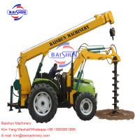 China Tractor Crane Pole Erection Machine For Power Transmission 100-2000MM on sale