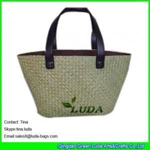 LUDA summer straw bag natural seeagrass straw designer handbags on sale Manufactures