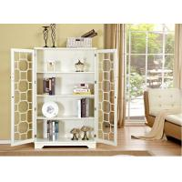 Natural Wood White Bookcase With Doors , Safely Store Your Favorites Manufactures