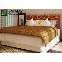 China Carved Melamine Contemporary Wooden Beds , King Size White Wood Double Bed on sale