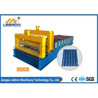 6500mm Length Glazed Roof Tile Roll Forming Machine Hydraulic Mould Cutting Manufactures
