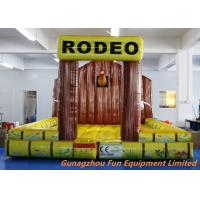 5 * 5m Inflatable Bouncy Castle / Inflatable Jumping Mat For Mechanical Rodeo Bull Manufactures