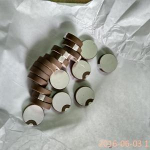 China Curling Edge Piezoelectric Ceramic Discs Ceramic Round Plate Positive And Negative Poles on sale