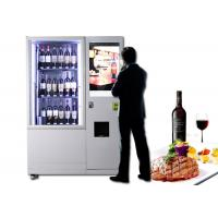 Lift Refrigerated Wine Vending Machine , Champagne Beer Vending Kiosk Manufactures
