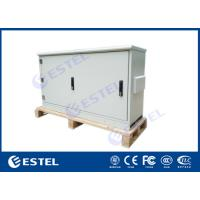 China Floor Mounted Outdoor Telecom Enclosure Aluminium Cabinet IP65 Powder Coating on sale