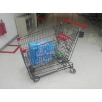 Buy cheap Grey Powder Coating 210L Asian Type Wire Shopping Trolley Wiht 4 Swivel 5 Inch Casters from wholesalers