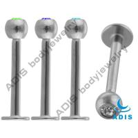 316L Stainless Steel Clear Non - Toxic Lip Piercing Jewelry For Gift Manufactures
