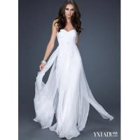 Silk pure white cocktail dress Manufactures