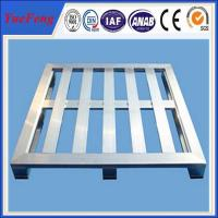 4 Way Anodized Aluminum Pallets, Industrial Extruded Aluminium Profiles for pallet Manufactures
